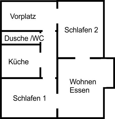 Grundriss der Ferienwohnung U.Meyer Nachf. Reutlingen